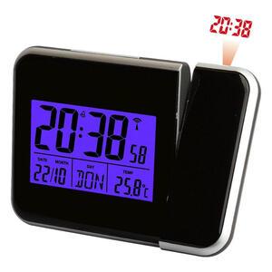 XXXLutz Wecker schwarz , 42425 , Kunststoff , 5.6x5.6x2.7 cm , glänzend , Kalenderanzeige, Wochentaganzeige, Weckfunktion , 0052910013