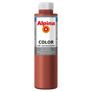 Alpina Color Voll- und Abtönfarbe 'Spicy Red' seidenmatt 750 ml