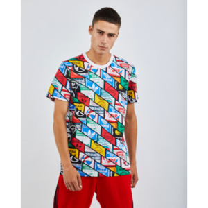 adidas Al Over Print Flag - Herren T-Shirts