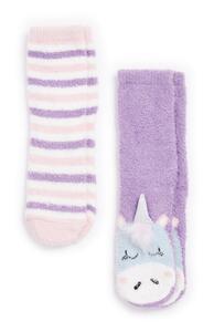 Bequeme Socken mit Einhorn-Design für Mädchen, 2er-Pack