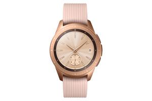 SAMSUNG Galaxy Watch 42 mm Telekom + Wireless Charger Duo weiß + Echtlederarmband beige Smartwatch kaufen. Armband: Silikon, S, L, Farbe Roségold | SATURN
