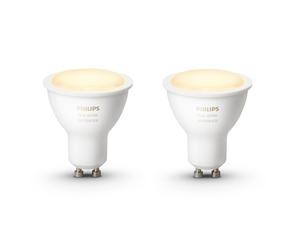 PHILIPS Hue White Ambiance GU10 2er Pack LED-Leuchtmittel
