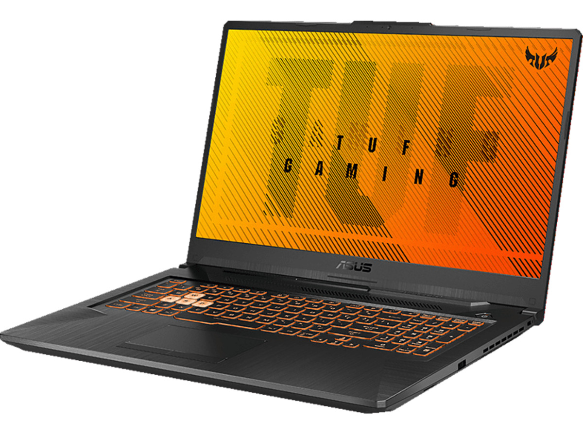 Bild 2 von ASUS TUF Gaming A17 (FA706IU-AU174T), Gaming Notebook mit 17.3 Zoll Display, Ryzen™ 5 Prozessor, 8 GB RAM, 512 GB SSD, GeForce® GTX 1660 Ti with ROG Boost, Bonfire Black