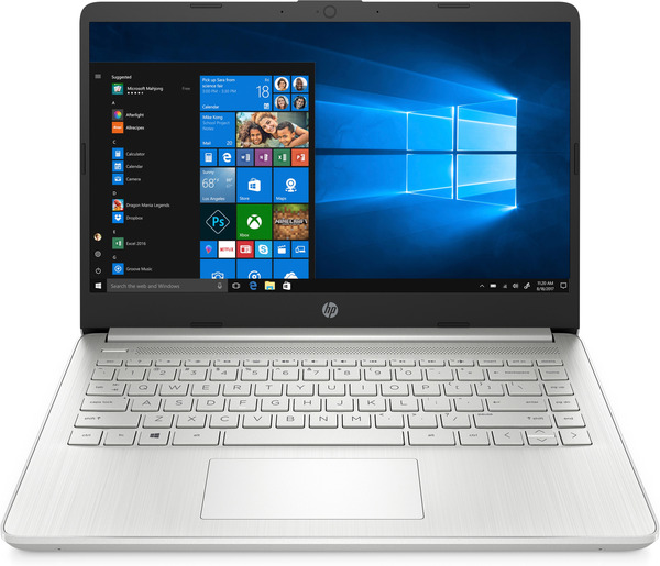 HP 14s-dq0322ng, Notebook mit 14 Zoll Display, Pentium® Gold Prozessor, 4 GB RAM, 256 GB SSD, Intel® UHD-Grafik 610, Silber