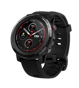 AMAZFIT  Stratos 3 Smartwatch Polycarbonate + Fiberglas, Silikon, 195 mm, Schwarz