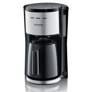 SEVERIN KA 9251 Kaffeemaschine Edelstahl gebürstet/Schwarz