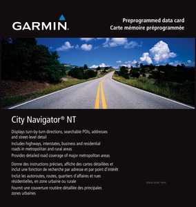 GARMIN City Navigator® North America NT: Canada Only - micro-SD/SD-Karte, Kartenmaterial, passend für Navigationsgerät, Schwarz