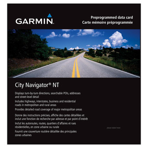 GARMIN City Navigator North America NT -  USA, Kanada, Mexiko MicroSD/SD Karte, Kartenmaterial, passend für Navigationsgerät, Schwarz