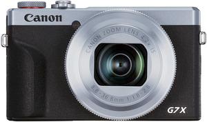 CANON PowerShot G7 X Mark III Digitalkamera Silber/Schwarz, 20.1 Megapixel, 4.2fach opt. Zoom, Touchscreen-LCD (TFT), WLAN