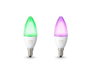 PHILIPS Hue White & Color Ambiance LED Leuchtmittel, Weiß