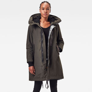 Hooded Padded Fishtail Parka