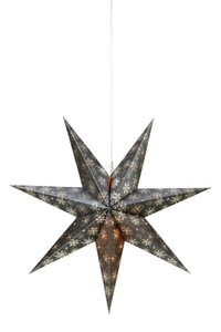 Markslöjd ALBERTA Hängestern grau-silber, H 45 cm x T 16 cm x B 45 cm
