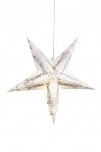 Markslöjd Strauß Hängestern weiß-silber, H 75 cm x T 23 cm x B 75 cm