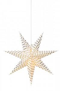 Markslöjd IRMA Hängestern weiß-gold, H 75 cm x T 23 cm x B 75 cm
