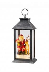 Markslöjd ARVID Laterne Santa grau-silber, LED, H 30,5 cm x T 14,4 cm x B 14,4 cm
