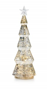 Markslöjd STRIX Tischdekoration Baum transparent, LED, H 29,5 cm x T 11,5 cm x B 11,5 cm