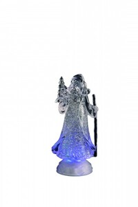 Markslöjd KING Santa Acryl klar transparent, LED, H 26 cm x T 11,5 cm x B 11,5 cm