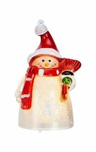 Markslöjd SIGGE Acrylfiguren Santa mit Schalca ,  weiß, H 9 cm x T 5,5 cm x B 5,5 cm