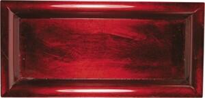 Riffelmacher Schale Kunststoff ,  36 x 17 cm rot