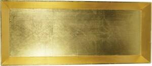 Riffelmacher Schale Kunststoff 50 x 20 cm, gold