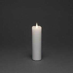 Konstsmide LED Echtwachskerze weiß 17,8 x 5 cm