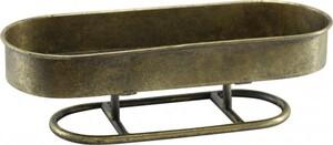 Dijk Metall Tablett gold, 38,5 x 14,5 x 11,5 cm