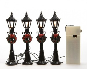 Kaemingk Straßenlaterne mit Batterie, Innenbereich klassisch weiß, 4 x 12 cm