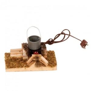 Riffelmacher Kessel-Feuerstelle mit LED-Licht 8.5 x 5 cm