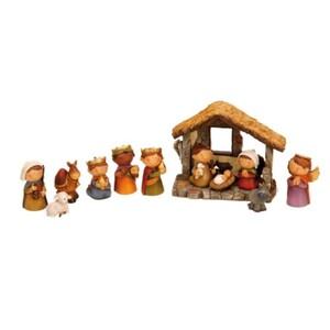 Riffelmacher Kinder-Krippenfiguren mit Stall 12-teilig, 2.5-9 cm