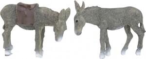 Riffelmacher Esel grau 7cm, 2er Set
