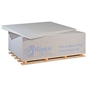 Gipskartonplatte, 200x125x1,25cm, weiß