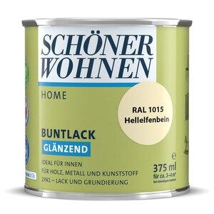 """Schöner Wohnen Farbe              Buntlack """"Home"""" hellelfenbein, 0,375 L, Glänzend"""