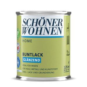 """Schöner Wohnen Farbe              Buntlack """"Home"""" limettengrün, Glänzend, 0,125 L"""