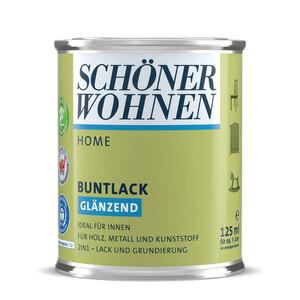 """Schöner Wohnen Farbe              Buntlack """"Home"""" silbergrau, Glänzend, 0,125 L"""