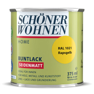 """Schöner Wohnen Farbe              Buntlack """"Home"""" rapsgelb, 0,375 L, Seidenmatt"""