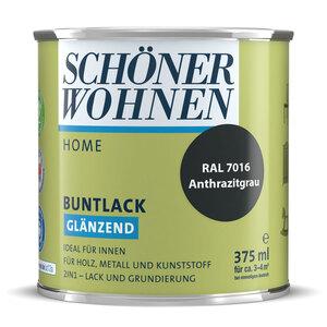 """Schöner Wohnen Farbe              Buntlack """"Home"""" anthrazit, 0,375 L, Glänzend"""