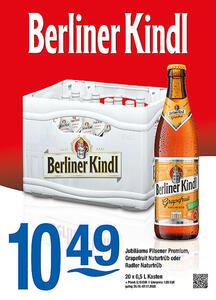 Berliner Kindl Jubiläums Pilsener Premium, Grapefruit Naturtrüb oder Radler Naturtrüb