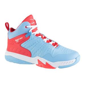 Basketballschuhe SS500H Kinder Fortgeschrittene blau/rosa