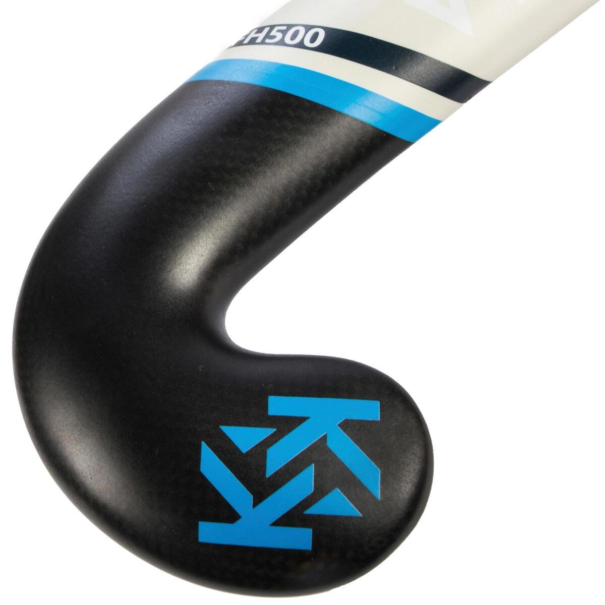 Bild 4 von Feldhockeyschläger FH500 Erwachsene Mid Bow 50% Carbon blau