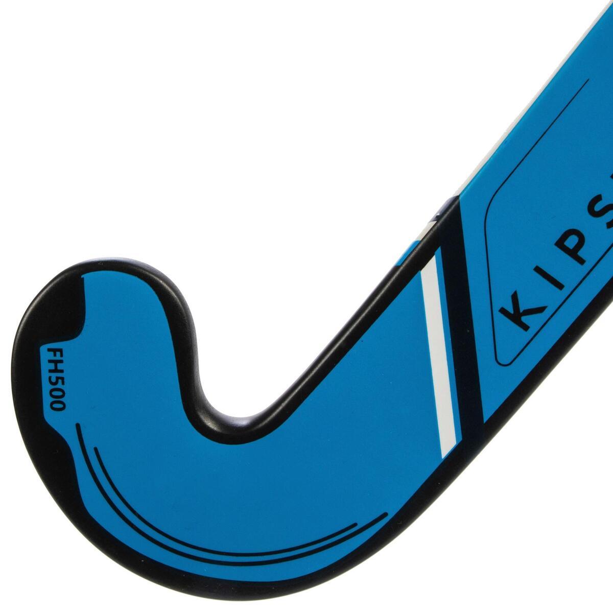 Bild 5 von Feldhockeyschläger FH500 Erwachsene Mid Bow 50% Carbon blau