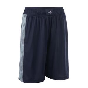 Basketballshorts SH500 Damen dunkelblau/hellblau