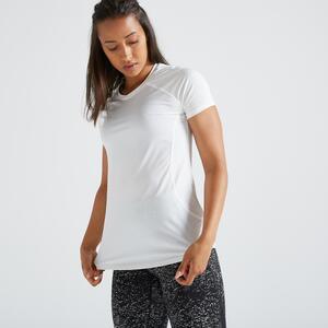 T-Shirt FTS 500 Fitness Cardio Damen weiss