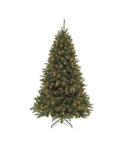Künstlicher Weihnachtsbaum Tanne 'Bristlecone' mit LED-Beleuchtung, 155 cm