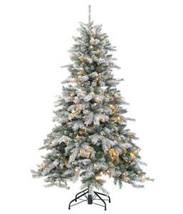Künstlicher Weihnachtsbaum gefrostet mit LED-Beleuchtung, 150 cm
