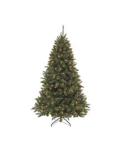 Künstlicher Weihnachtsbaum Tanne 'Bristlecone' mit LED-Beleuchtung, 215 cm