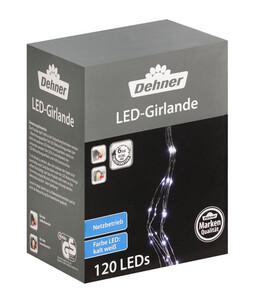 Dehner LED-Lichtgirlande, kaltweiß