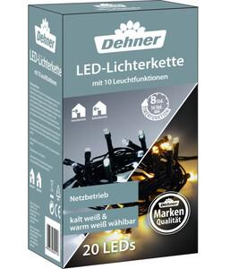 Dehner LED-Lichterkette, warmweiß/kaltweiß