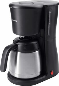 Privileg Filterkaffeemaschine mit Edelstahl-Thermokanne, 980 Watt, 1,25l Kaffeekanne, Papierfilter 1x4, komfortable Einhandbedienung