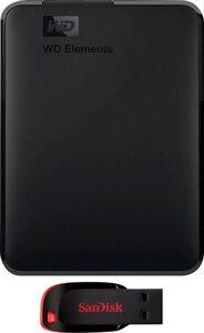 "WD »Elements Portable« externe HDD-Festplatte 2,5"" (2 TB)"