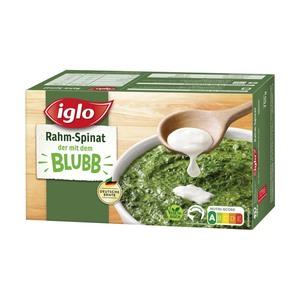 iglo Rahm-Spinat oder Blubb Sticks gefroren, jede 750/284-g-Packung und weitere Sorten